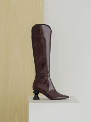 Chess-A Long Boots_Burgundy