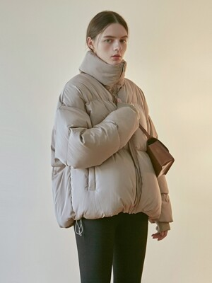 ACTIVE DUCK DOWN PUFFER PADDING_BEIGE