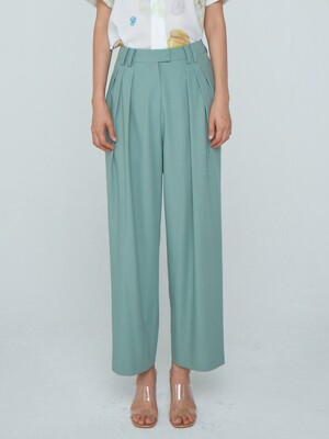 Zigzag Wide Trousers_Green