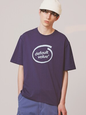 DV CIRCLE LOGO TEE(NAVY)