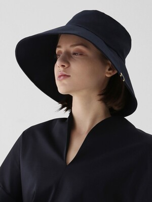 WIDE BUCKET / BIG EYE LINEN / SEA NAVY