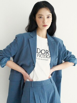 LTG3 LINEN JACKET(BLUE-GREEN)