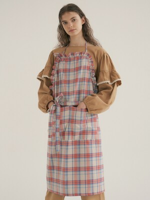 (앞치마) Coral Plaid Apron