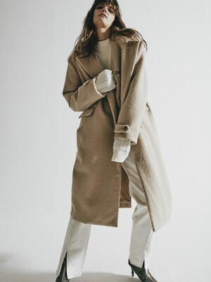 ORDINARY BEIGE CASENTINO DOUBLE COAT