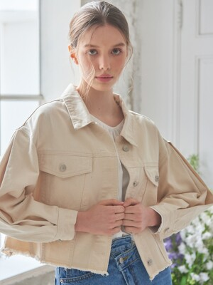 planet-109 puff sleeve jacket_natural