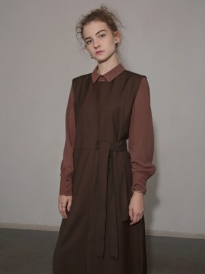 CLASSIC SOFT BLOUSE - BROWN
