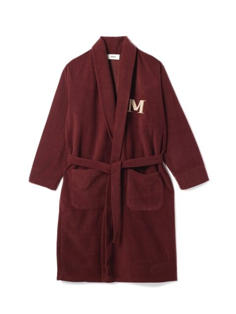 BURGUNDY FLEECE ROBE