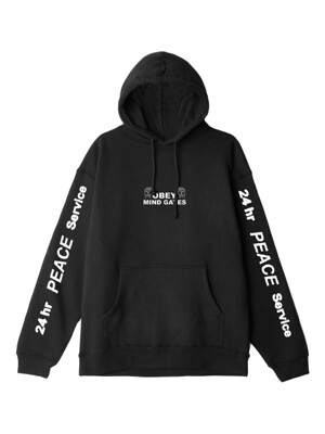 OBEY MIND GATE (BLACK) SWEATSHIRT HOODED