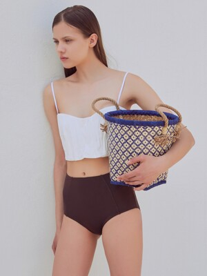 [FRONTROW X RECTO.] High-waist Swim Bottom
