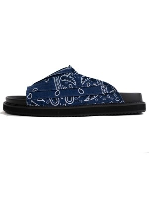 Paisly Slippers [Blue]