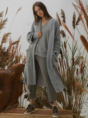 Trench Cardigan - Gray