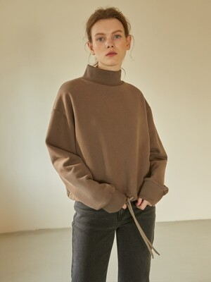 19W STRING SWEATSHIRTS (BROWN)