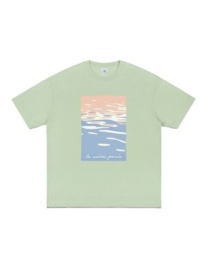 SEINE PAINTING T-SHIRT (MINT)
