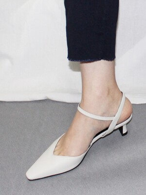 UV STRAP OPEN BACK PUMPS 5cm M-IG-200409