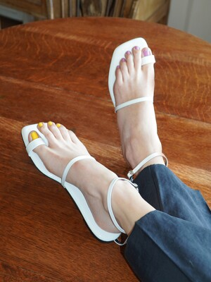 Y.01 Jane candy back T sandals / YY20S-S48 White