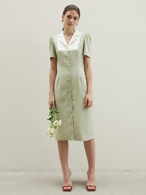 tailored collar P dress MT