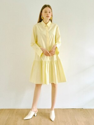 Long Sleeve Shirt One-piece in Yellow (WS0471MG7E)