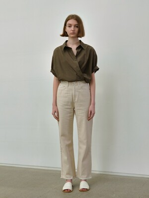 half box shirt (khaki)