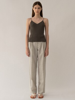 Summer wool slacks (Warm grey)