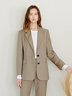 Two Button Jacket in Khaki