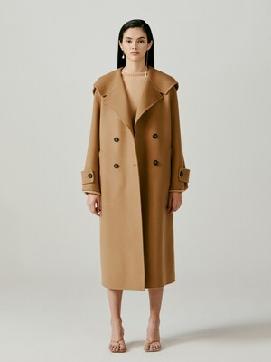 Oversized Wool and Cashmere-Blend Coat - Camel