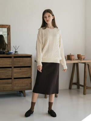 Loue Knit Skirt (2color)