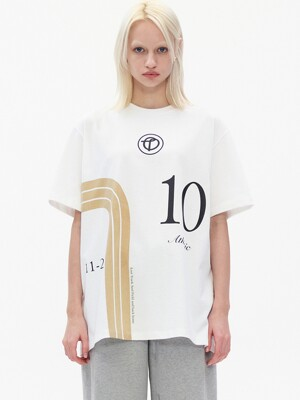 NUMBER PRINT T-SHIRT, WHITE