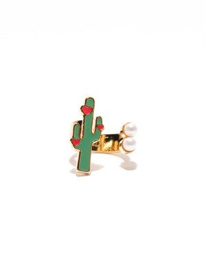 [PLAIN] CACTUS WITH PEARLS_GOLD