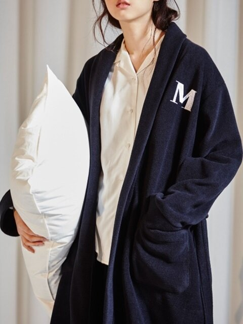 NAVY FLEECE ROBE