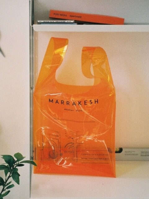 MARRAKESH LINE SHEER BAG_ ORANGE