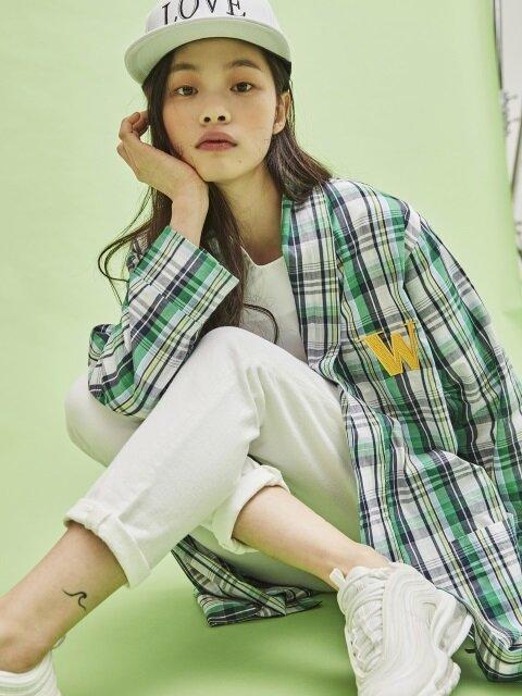 SPRING GREEN CHECK ROBE