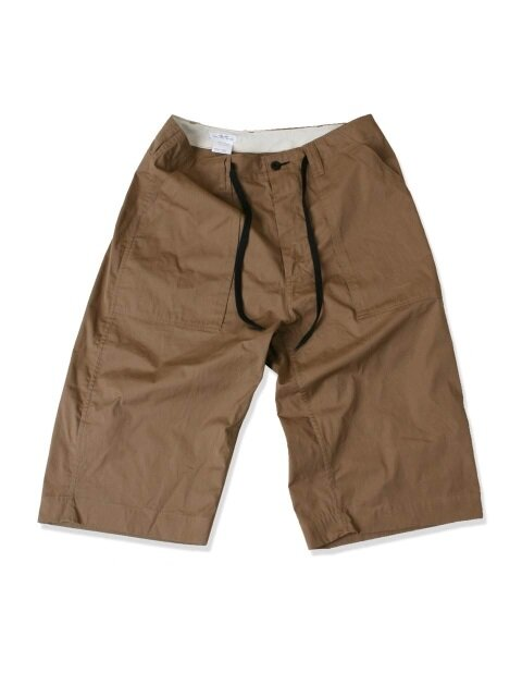 swellmob 3/4 fatigue string shorts -light brown-