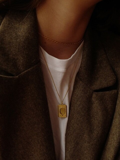 [단독]Poem Necklace Gold