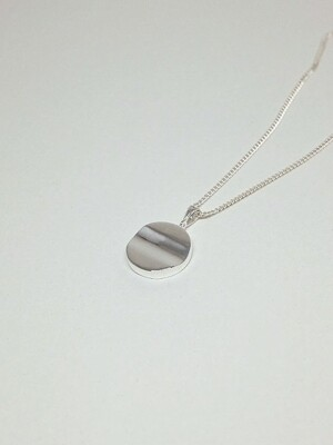 Wave Necklace (Silver) / (Basic line)