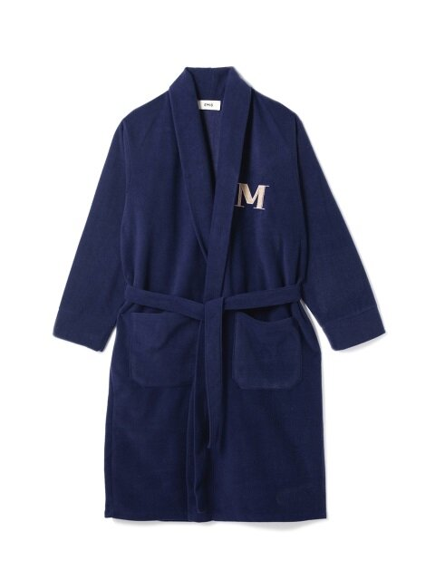 MIDNIGHT BLUE FLEECE ROBE