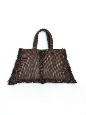 trapezoid tweed bag
