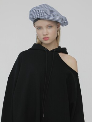 R CHECK BERET HAT