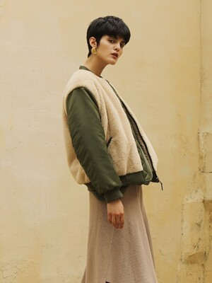 Flight fur jacket_Beige