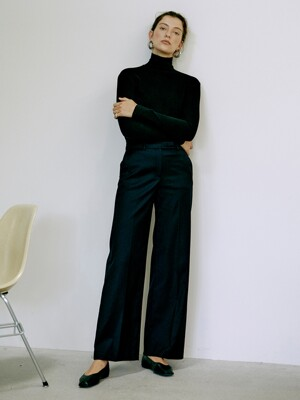 [Day-Wool] Wool-blend Wide-leg Trousers_3colors