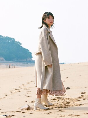 HALF AND HALF CASHMERE WOOL COAT_IVORY
