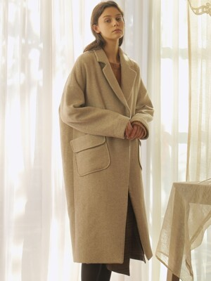 POCKET POINT LONG COAT_BEIGE