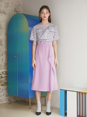 20SS 1ST STRIPE COLOR T-SHIRT_PINK