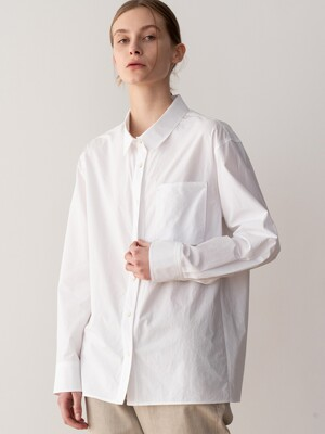 20SP PATCH-POCKET SHIRT (WHITE)