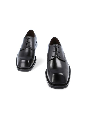 NOIR1_SQUARE TOE DERBY(BLACK)