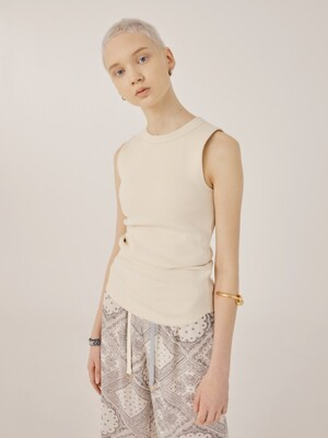 Orb Sleeveless Top (Ivory)