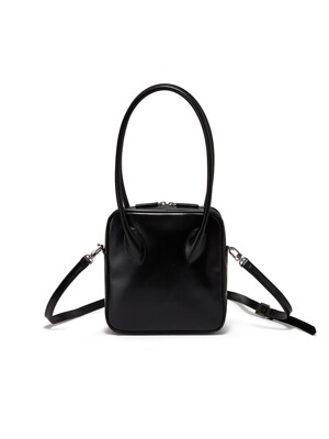 MINI BOWLING LEATHER HANDBAG, BLACK