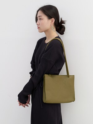 plain square bag olive