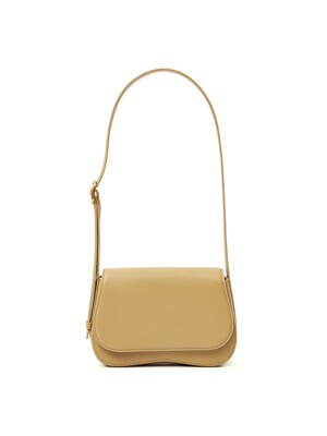 63 CURVE SHOULDER BAG YELLOW BEIGE/ETOUPE BROWN