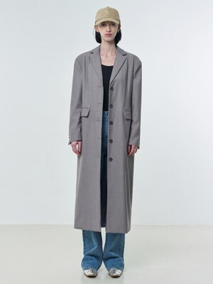 R RAW CUTTING LONG JACKET