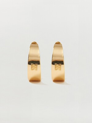SHINE Logo Hoop Earrings - Gold